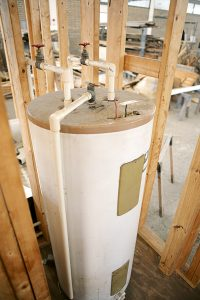 Image of water heater installed in new home