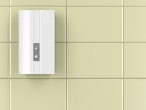 Image of automatic type of water heater in a home