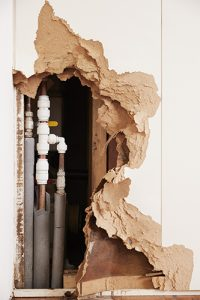 Image of a opening in drywall